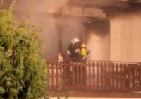Pożar domu mieszkalnego w Woli Rębkowskiej