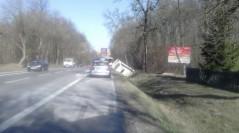 Wypadek na drodze krajowej nr 17.